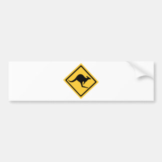 Australian Kangaroo Sign Bumper Stickers