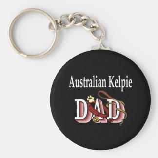 australian kelpie dad Keychain