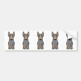 Australian Kelpie Dog Cartoon Bumper Sticker