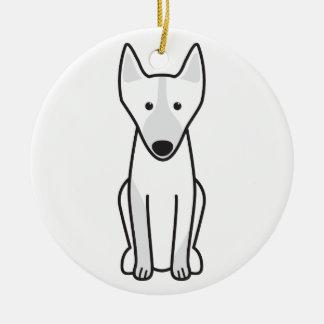 Australian Kelpie Dog Cartoon Round Ceramic Decoration