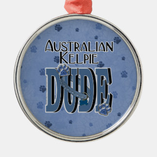 Australian Kelpie DUDE Christmas Ornament