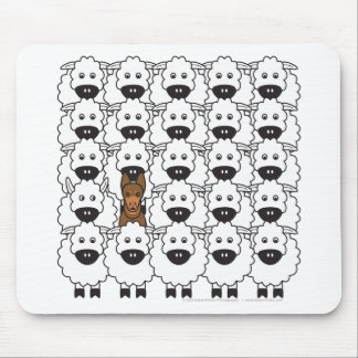 Australian Kelpie in the Sheep Mouse Mat