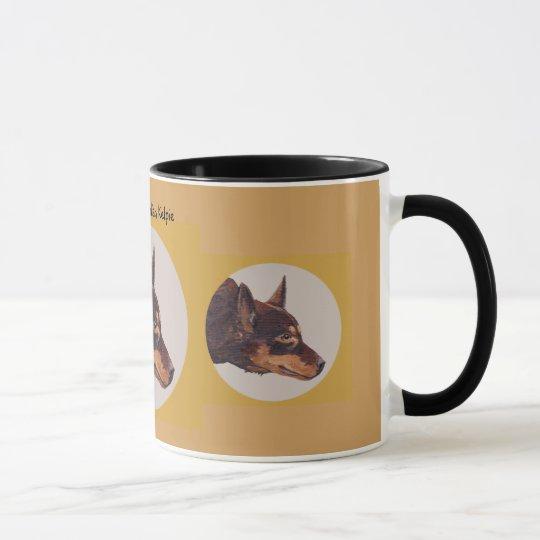 Australian Kelpie Ringer Coffee Mug