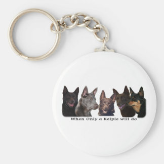 Australian Kelpies All Key Ring