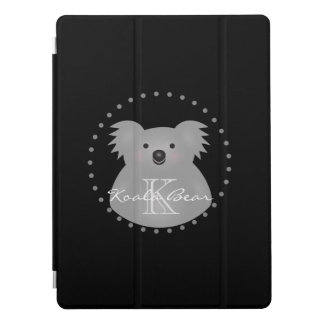 Australian Koala Bear Cute Add Your Name Monogram iPad Pro Cover