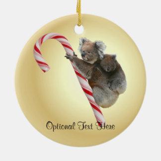 Australian Koala Christmas Candy Cane Christmas Ornament
