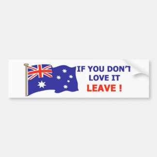 Australian - Love it Bumper Sticker