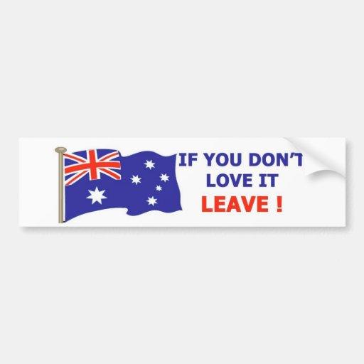 Australian - Love it Bumper Stickers