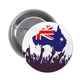 Australian Map And Flag with Audience 6 Cm Round Badge