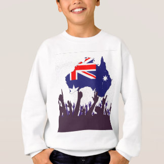 Australian Map And Flag with Audience Sweatshirt
