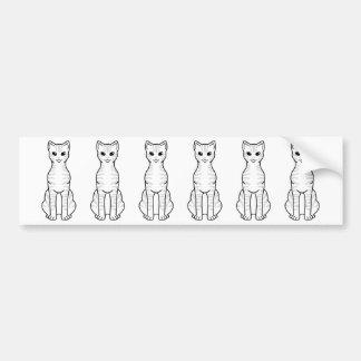 Australian Mist Cat Cartoon Bumper Sticker