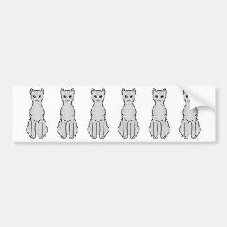 Australian Mist Cat Cartoon Bumper Stickers