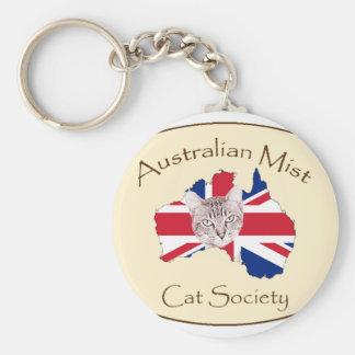 Australian Mist Cat Society products Basic Round Button Key Ring