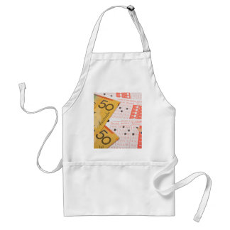 Australian money and sports betting slip adult apron