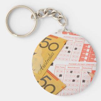Australian money and sports betting slip keychains