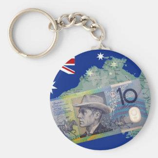 Australian Money & Flag Key Ring