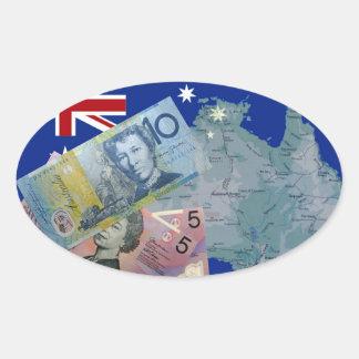 Australian Money Oval Sticker