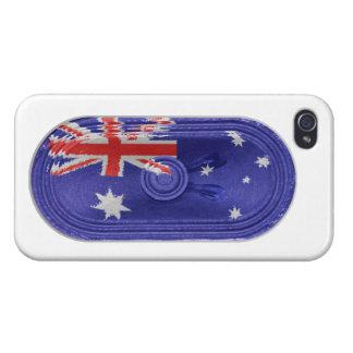 Australian National Flag Speaker On iPhone 4 iPhone 4/4S Cases