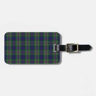 Australian National Tartan Plaid Pattern Luggage Tag