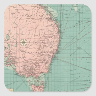 Australian, New Zealand ports Square Sticker