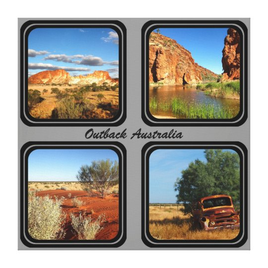 Australian outback 4 photo collage canvas print