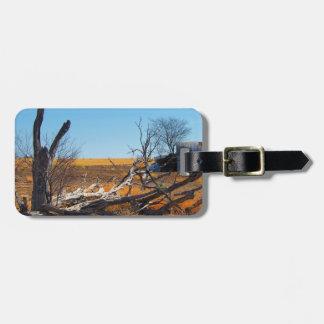 Australian outback luggage tag
