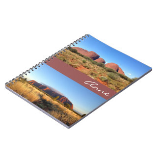 Australian outback notebook with name