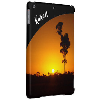 Australian outback sunset IPad case with name