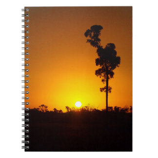 Australian outback sunset notebook