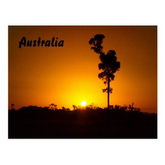 Australian outback sunset postcard