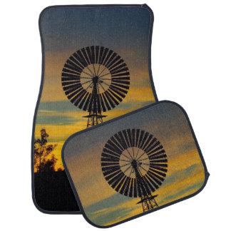 Australian outback windmill sunset car mats car mat