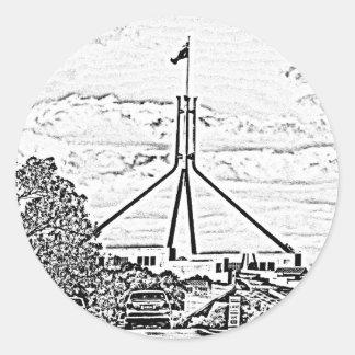 Australian Parliament - Canberra Round Sticker