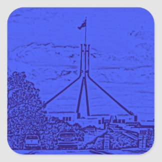 Australian Parliament - Canberra Square Sticker