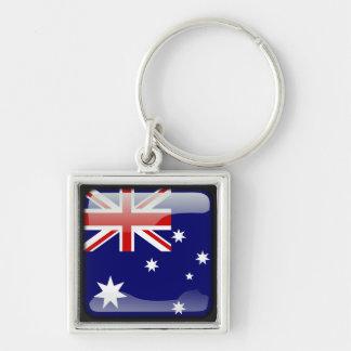 Australian polished key ring