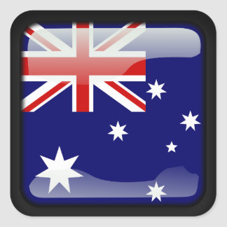 Australian polished square sticker