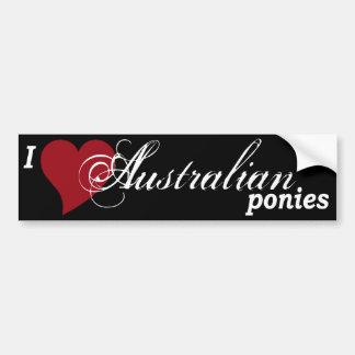 Australian ponies car bumper sticker