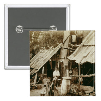 Australian prospector, c.1880s (sepia photo) 15 cm square badge