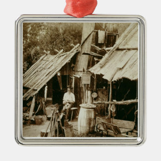 Australian prospector, c.1880s (sepia photo) christmas ornament