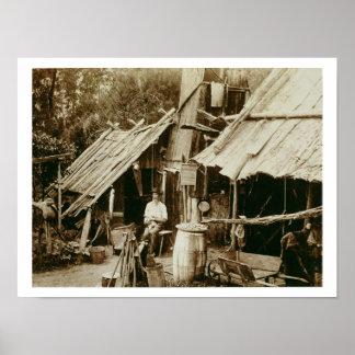 Australian prospector, c.1880s (sepia photo) poster
