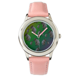 Australian Quokka Pattern, Girls Leather Watch