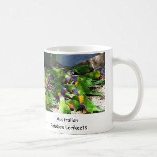 Australian Rainbow Lorikeets Basic White Mug
