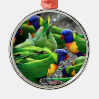 Australian Rainbow Lorikeets Christmas Ornament
