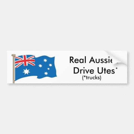 Australian - Real Aussies Drive Utes - USA version Bumper Stickers
