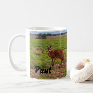 Australian red kangaroo coffee mug