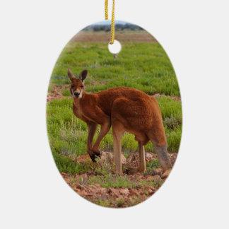 Australian red kangaroo ornament