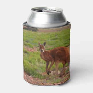 Australian red kangaroo photo can cooler
