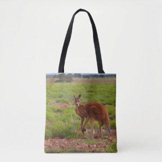Australian red kangaroo tote bag