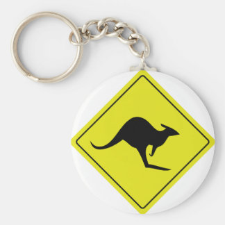 australian roadsign kangaroo australia key ring