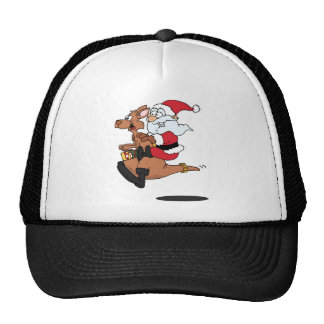 Australian Santa riding a Christmas kangaroo Cap