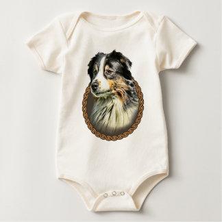Australian Shepherd 001 Baby Bodysuit